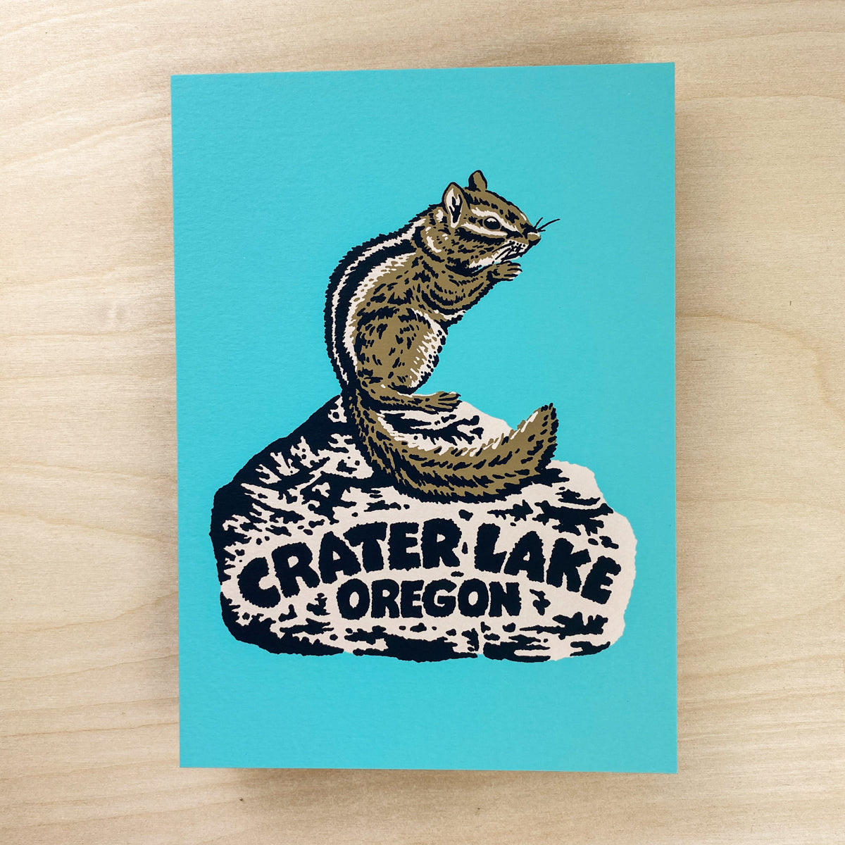 Crater Lake Chipmunk - Signed Print #187