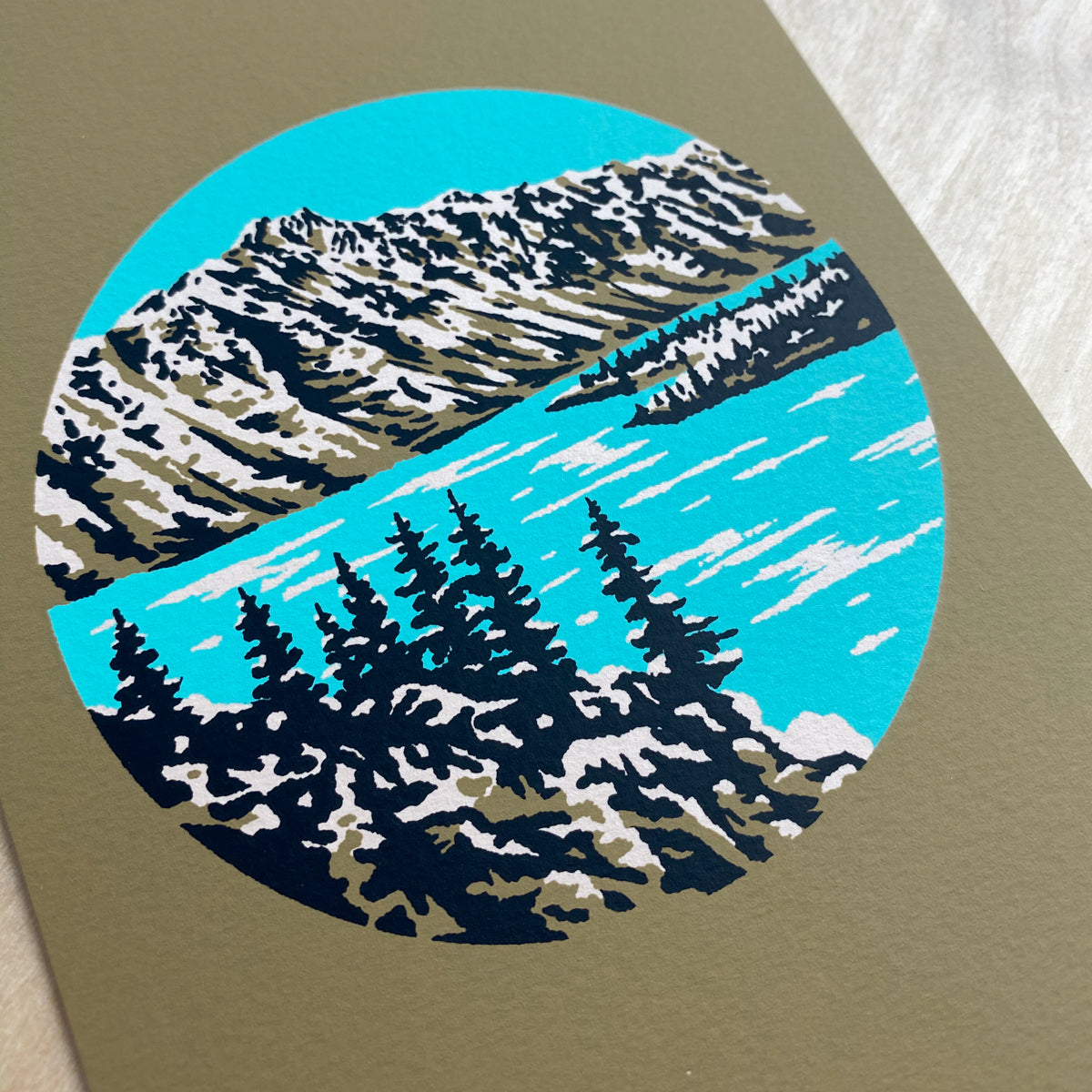 Crater Lake Powder - Signed Print #188