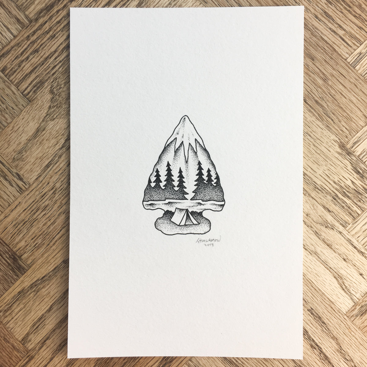 Camp Arrowhead - Original Illustration 6x9in