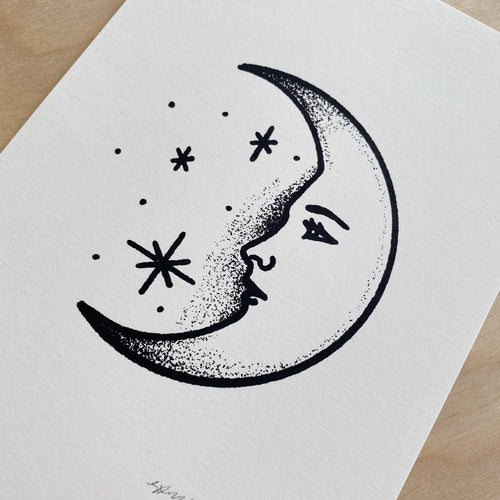 Crescent Moon - Signed 5x7in Print #244