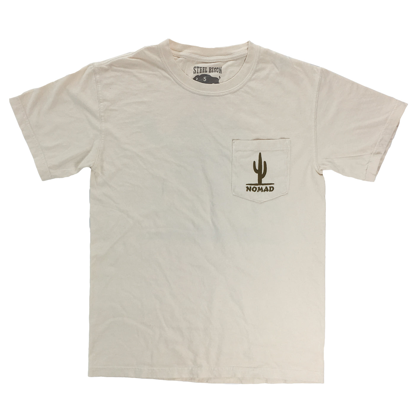 Desert Nomad - Heavy Cotton Pocket T-shirt (Ivory)