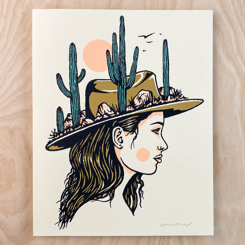 Desert Woman - Signed 8x10in Print #239