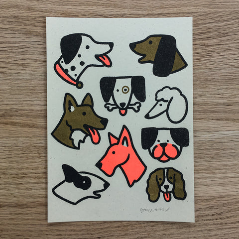 Huskies - Signed Print #100