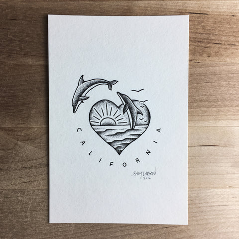Avocado - Original Illustration 7x5in