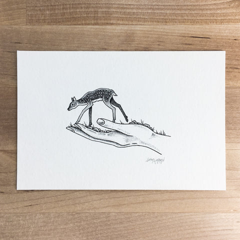 Home Bear - Original Illustration 8x6in