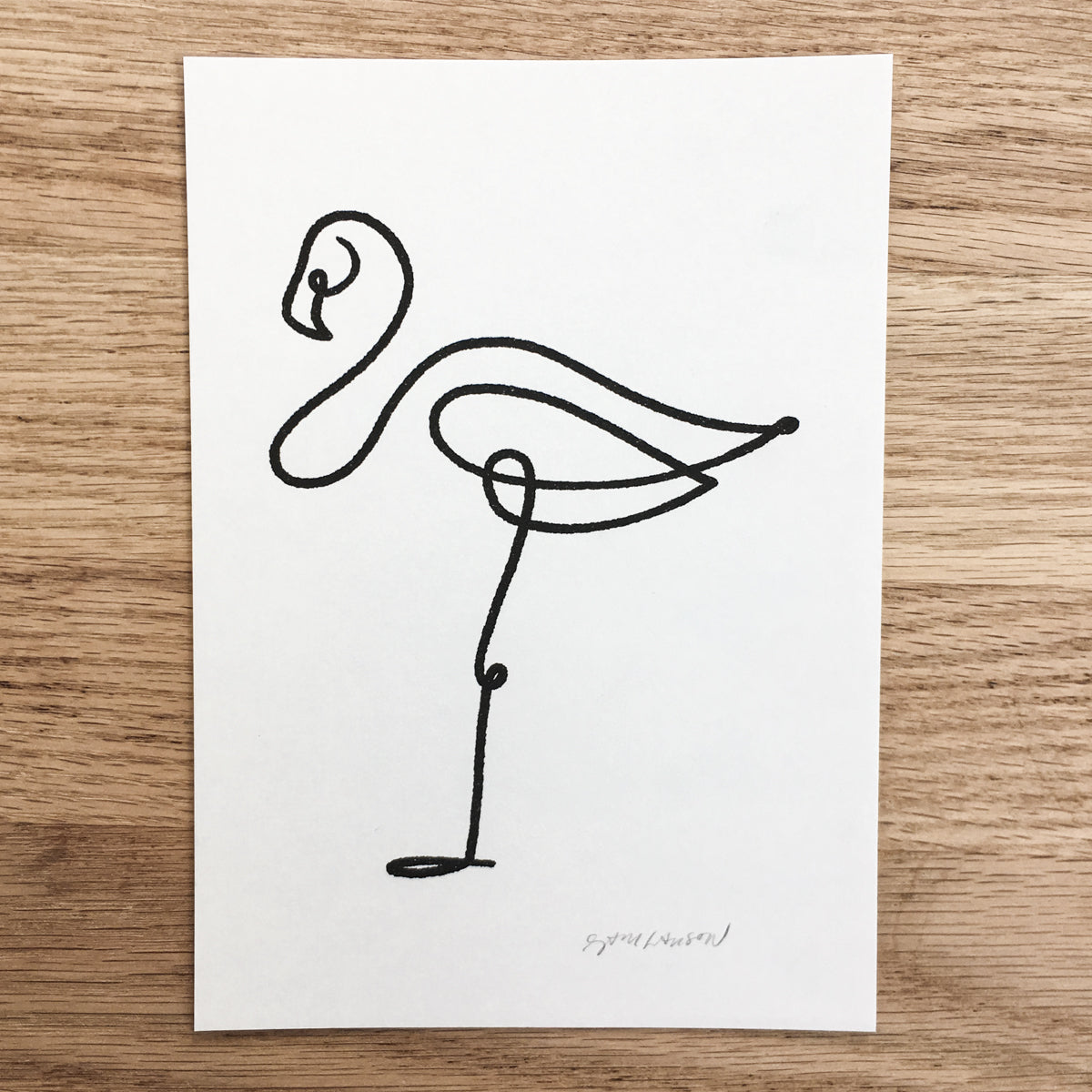 Abstract Flamingo - Signed Print #116