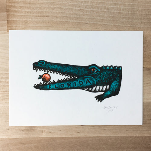 Florida Alligator - Signed Print #76