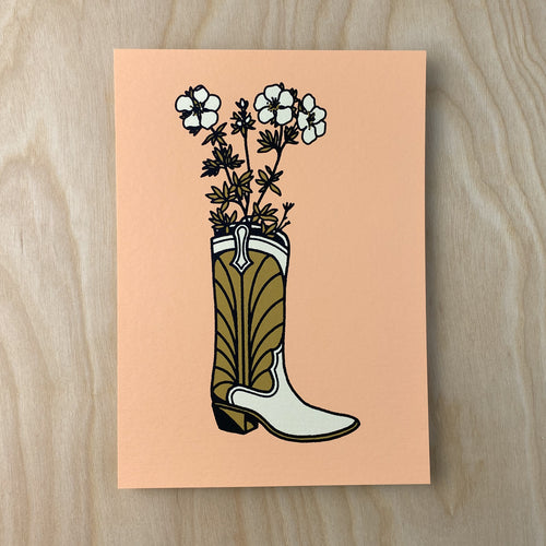 Flower Boot - Signed 5x7in Print #233