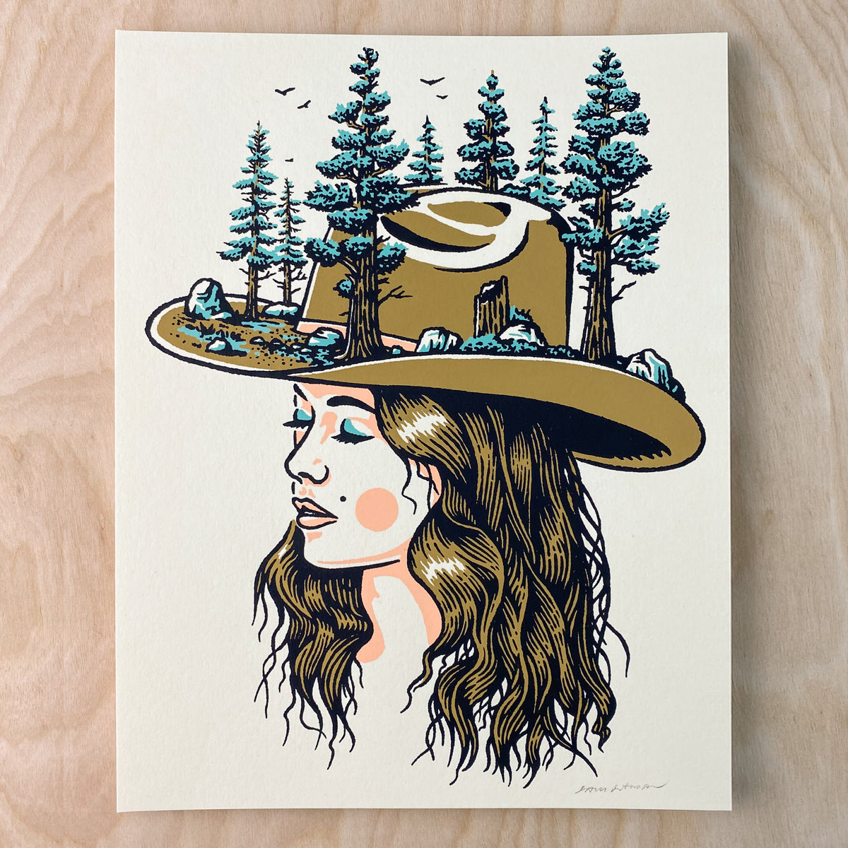 Forest Woman - Signed 8x10in Print #240