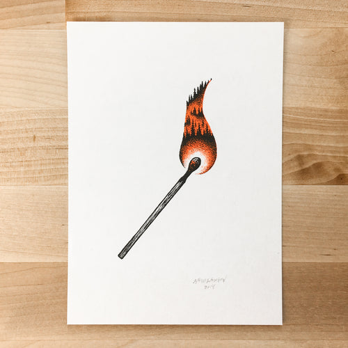 Forest Fire - Signed Print #80