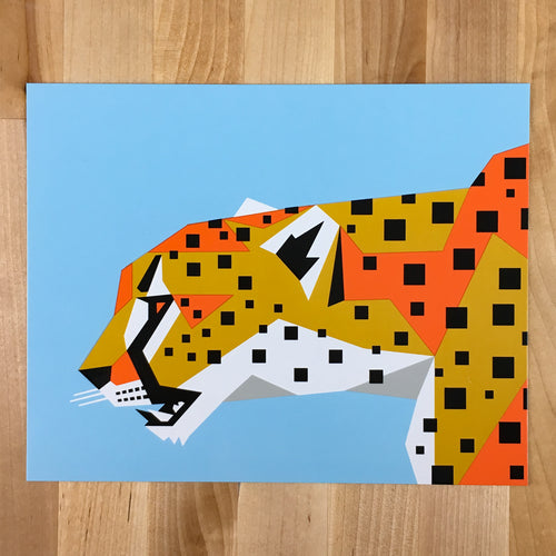 Geo Cheetah - Signed Silkscreen 8x10 Print