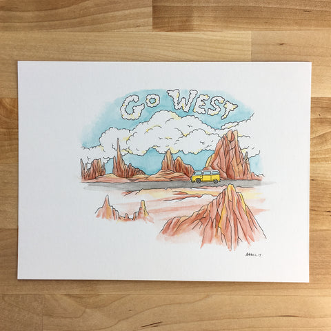 Portland, OR - Original Illustration 5x7in