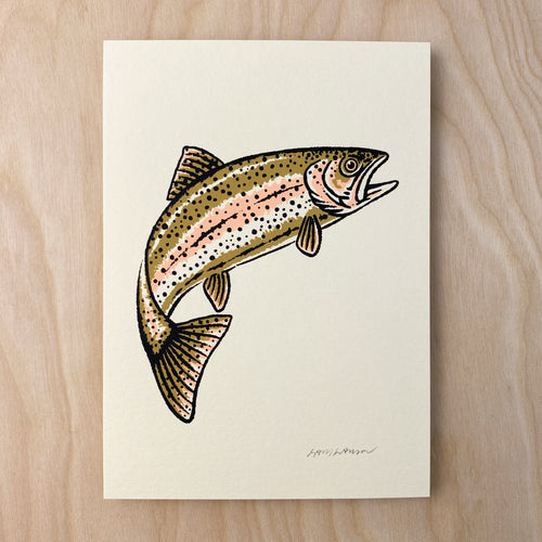 Gold Rainbow - Signed 5x7in Print #234