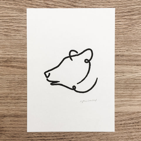 Abstract Black Bear - Signed Print #114