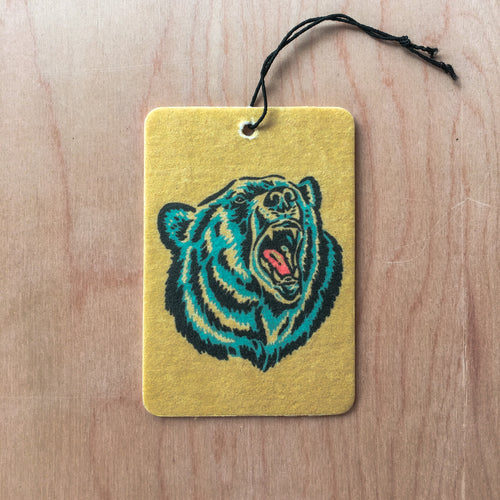 Growling Grizzly Dark Ice Air Freshener