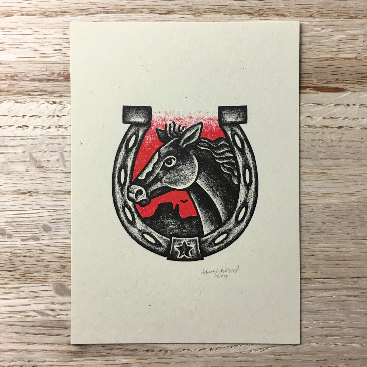 Horseshoe - Signed Print #98