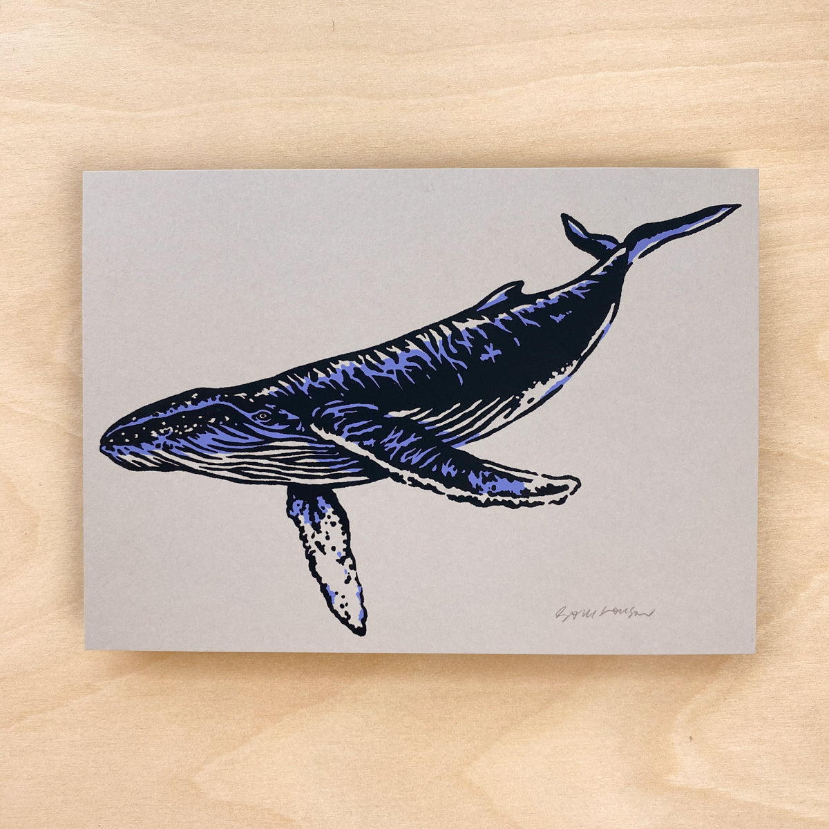 Maui Humpback - Signed 7x5in Print #210