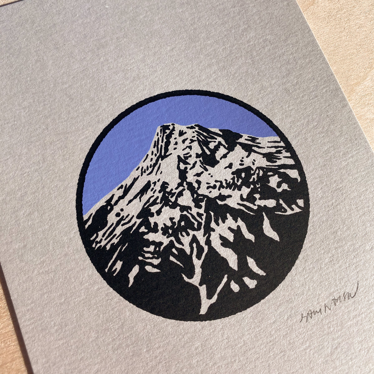 Mount Hood Circle - Signed 5x7in Print #208
