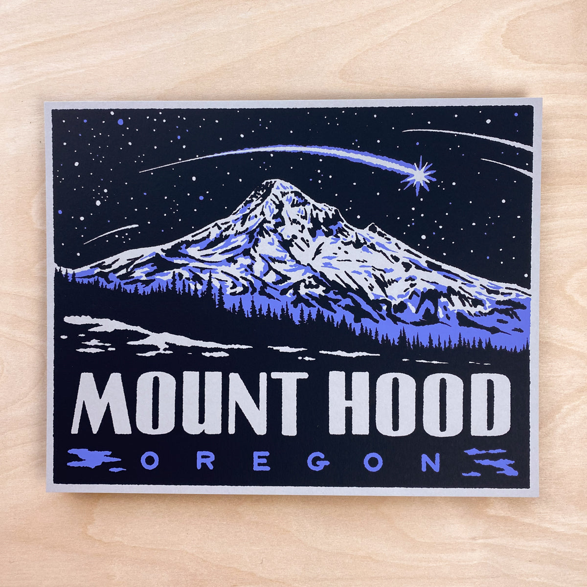 Mount Hood Oregon - Signed 10x8in Print #209