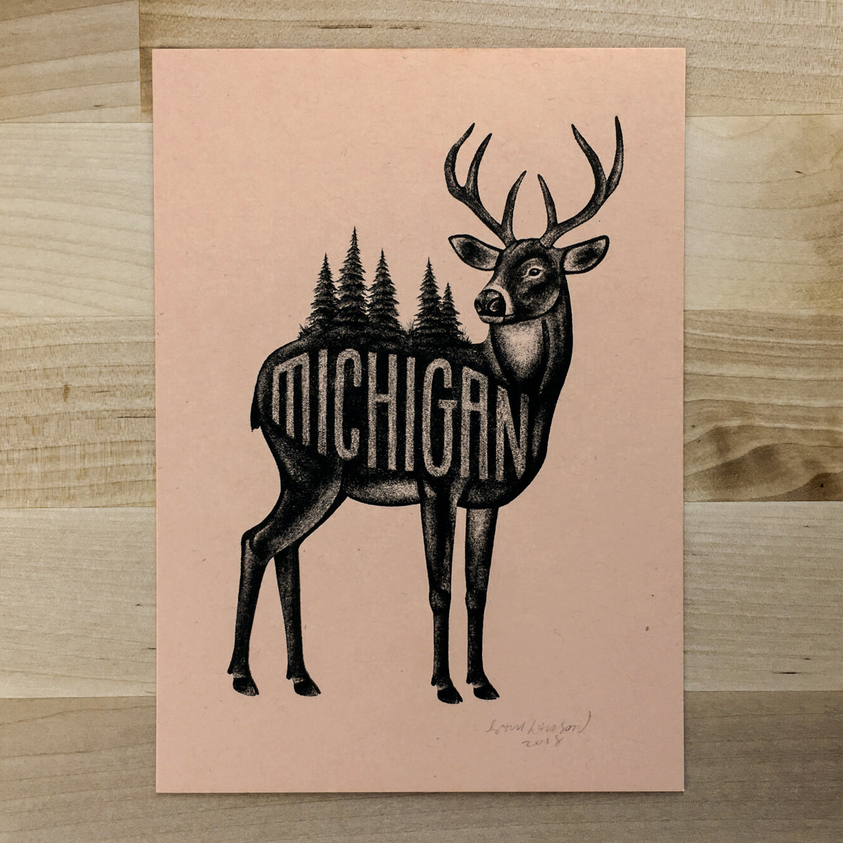 Michigan - Signed Print #91