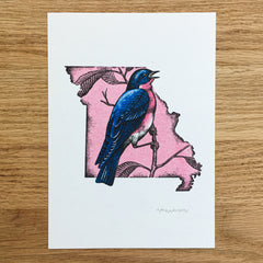 Missouri Blue Bird - Signed Print #104