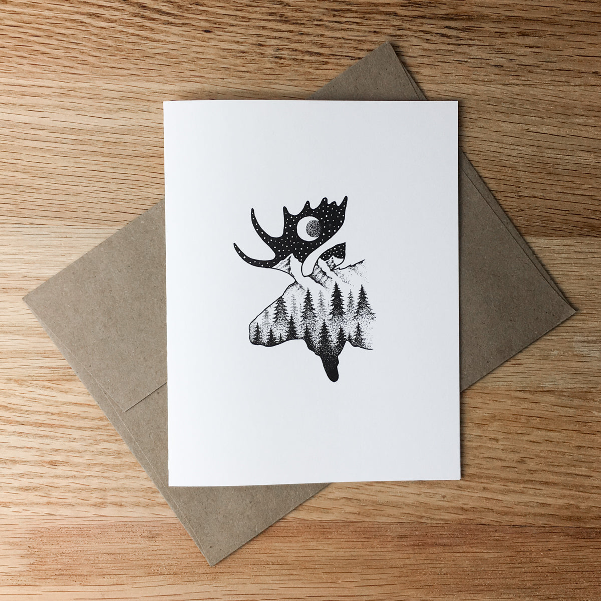 Greeting Cards - Midnight Moose