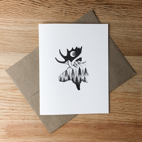 Greeting Cards - Moosescape
