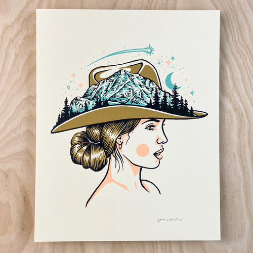 Mountain Woman - Signed 8x10in Print #238