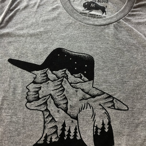 Mountain Girl T-shirt (Heather Grey)