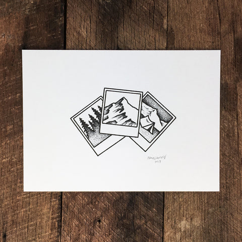 Bison Pines - Signed Print #4