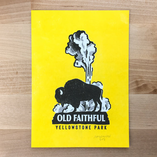 Old Faithful - Signed Print #85