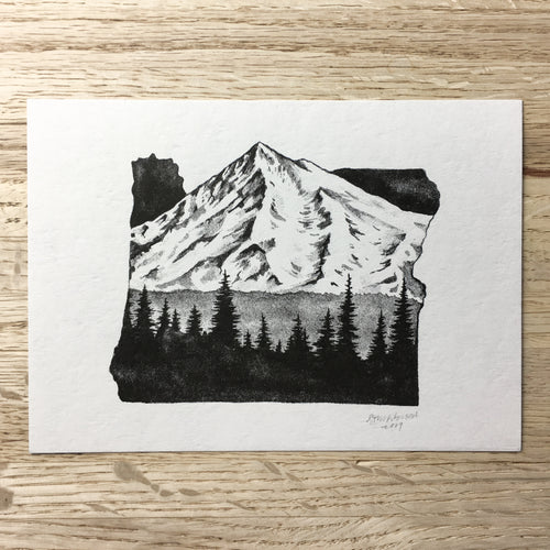Oregon Peak - Signed Print #95