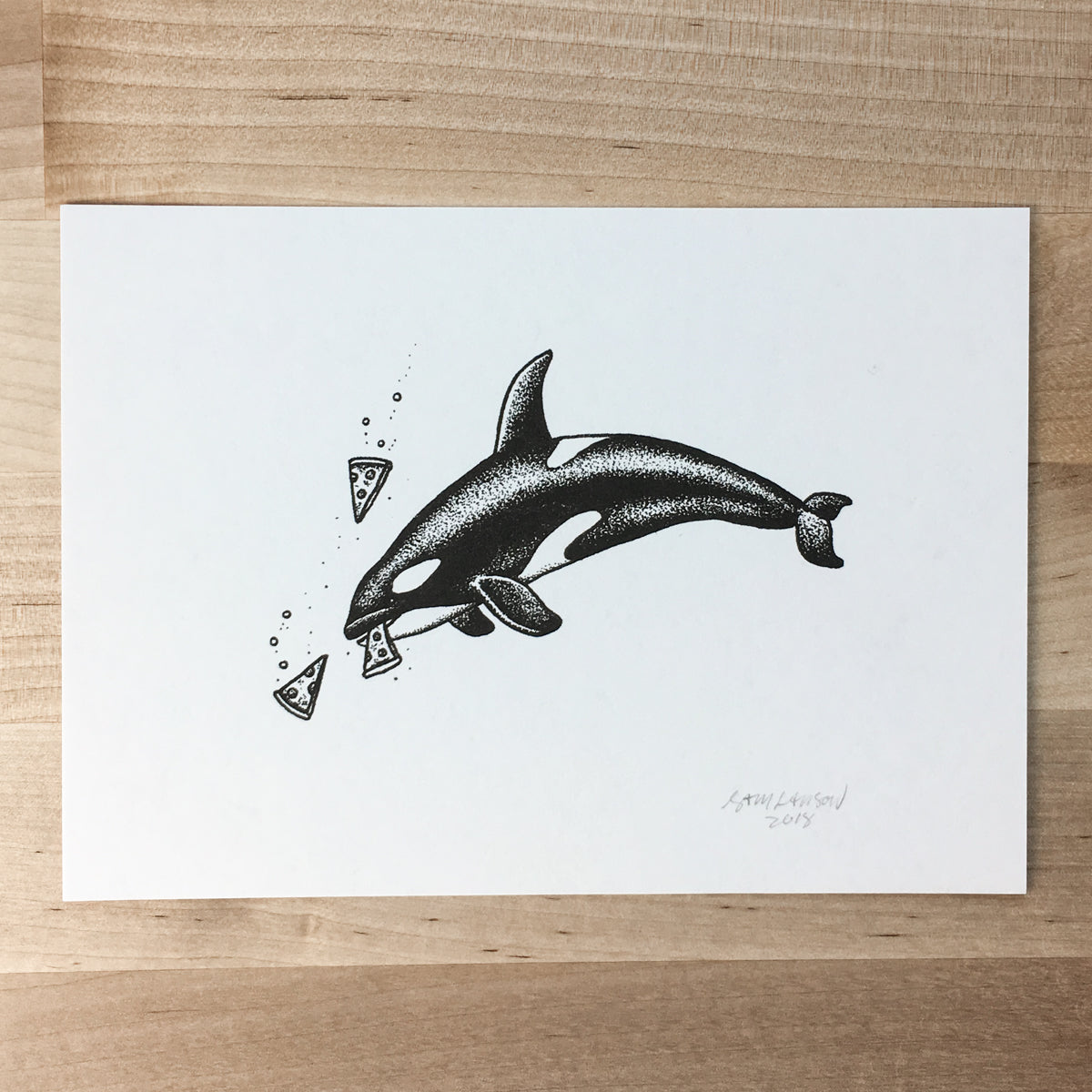 Pizza Orca - Signed Print #73