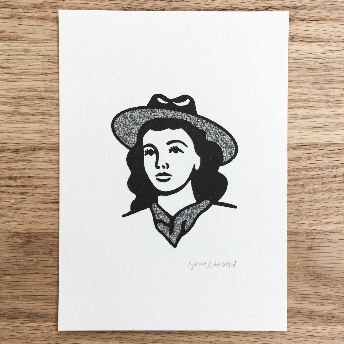Prairie Girl - Signed Print #108