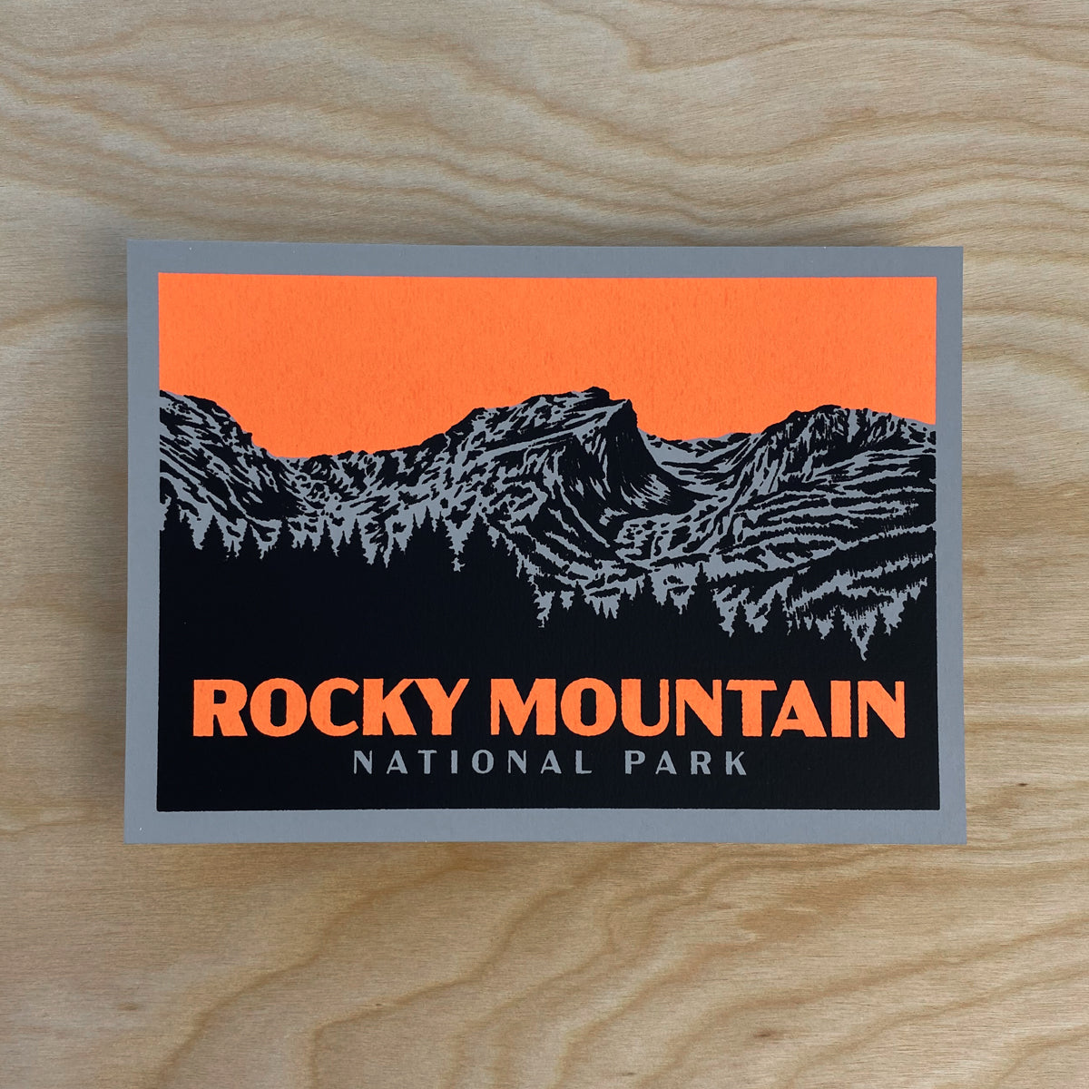 Rocky Mountain  - Signed 7x5in Print #219