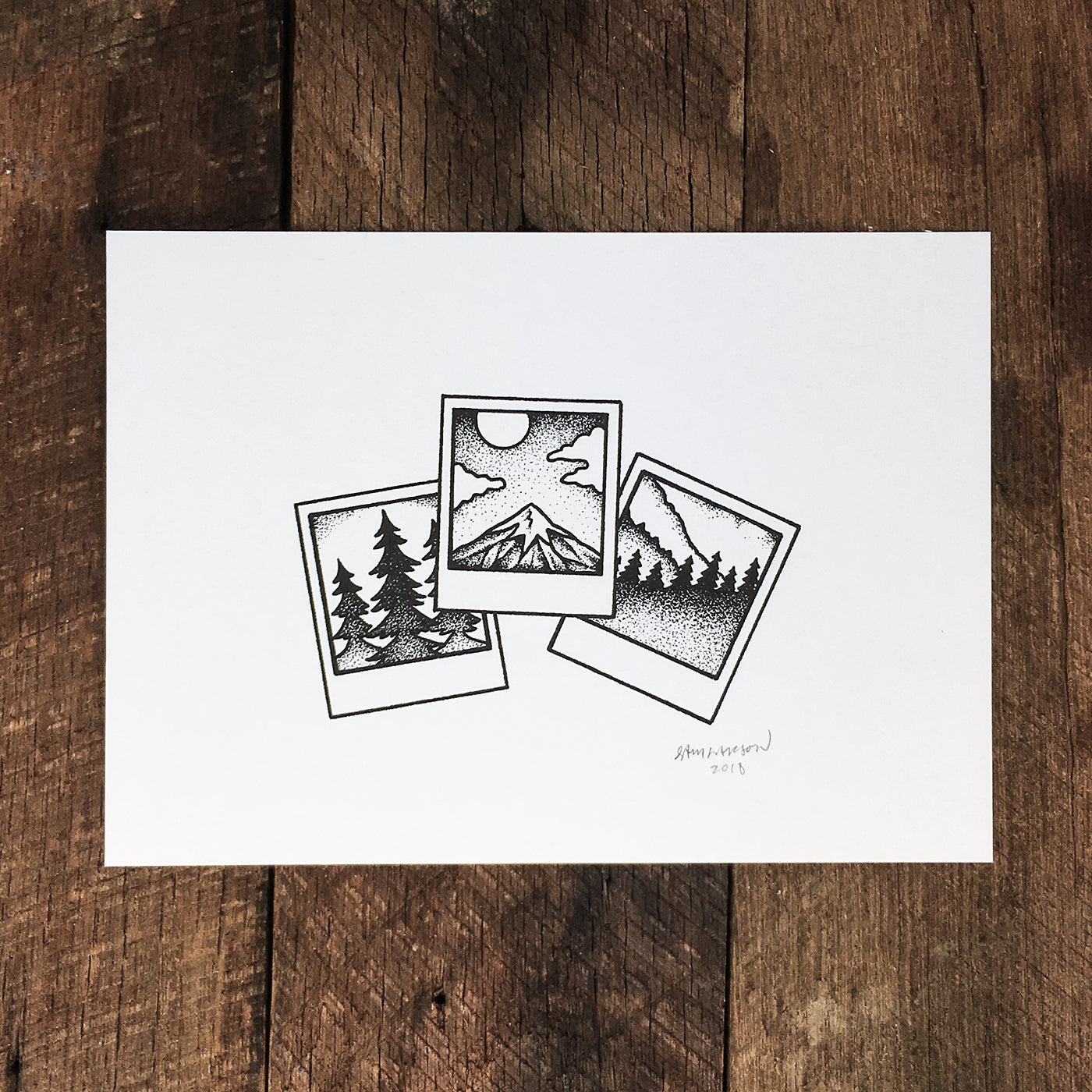 Rainier Polaroids - Signed Print #70