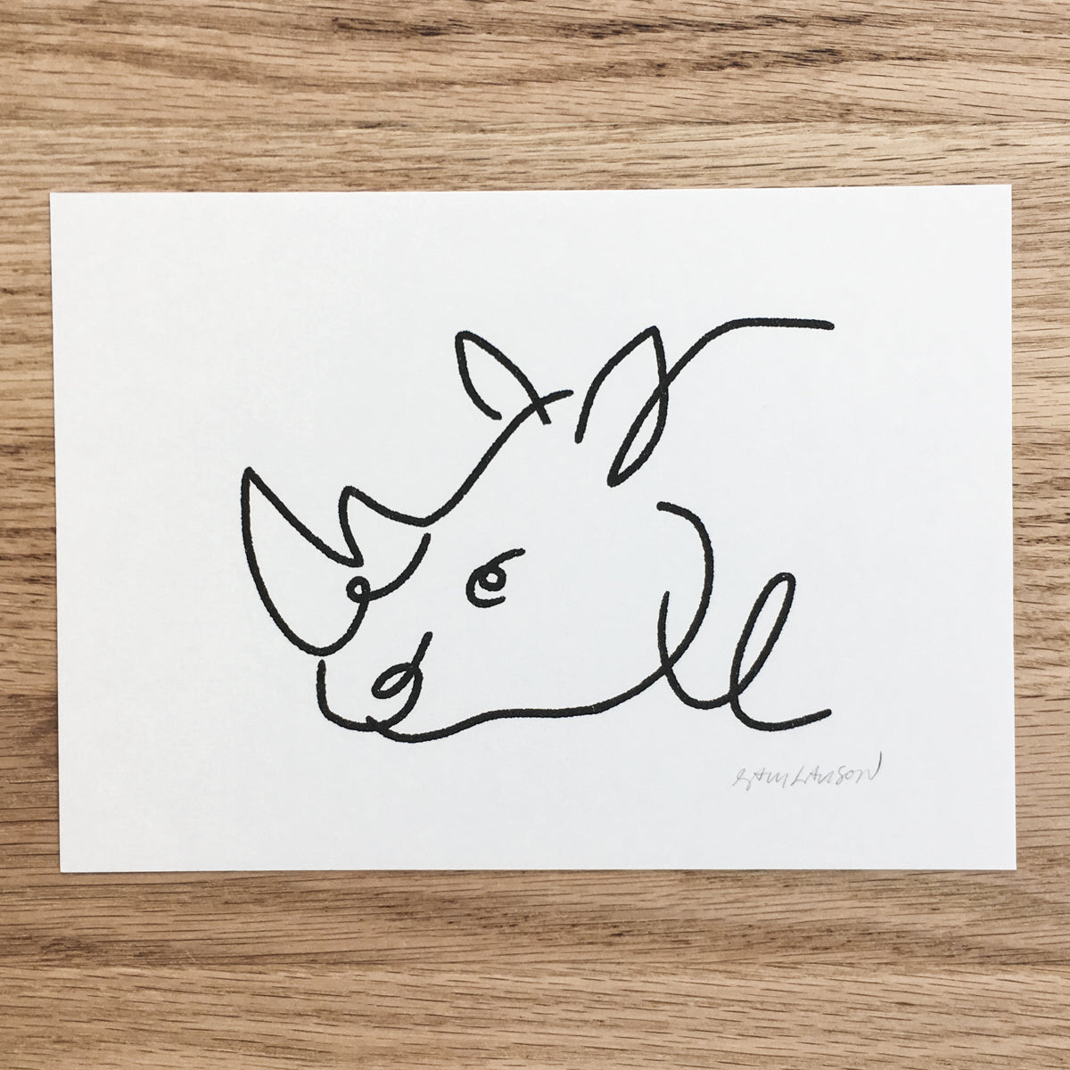 Abstract Rhino - Signed Print #115