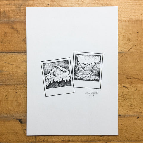 Great White - Original Illustration 5x7in