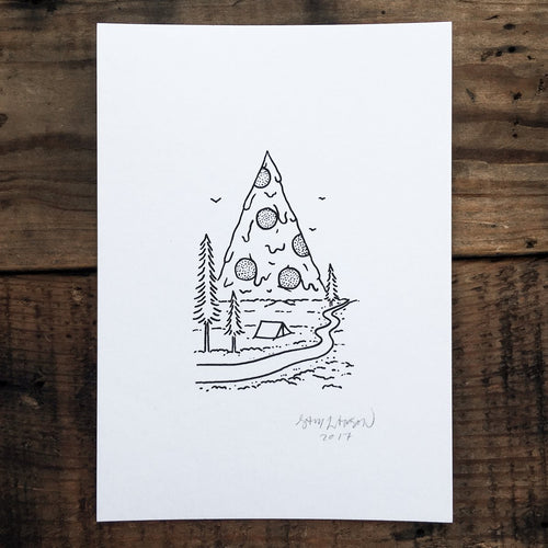 Mt. Pizza National Park - Signed Print #40