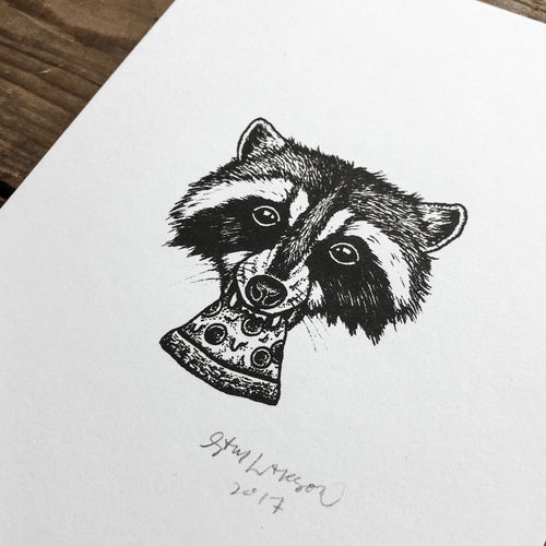 Pizza Raccoon - Signed Print #38