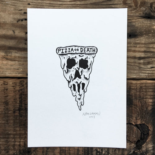 Pizza Skull - Signed Print #39