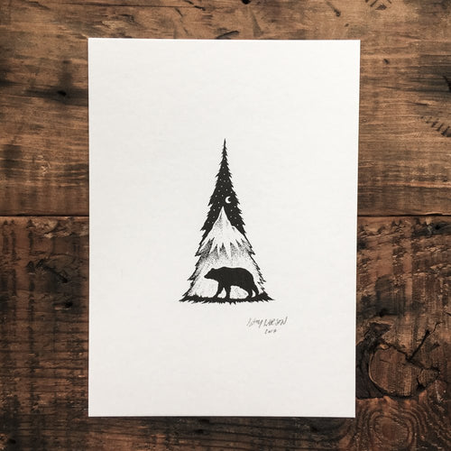 Bear Tree - Signed Print #12
