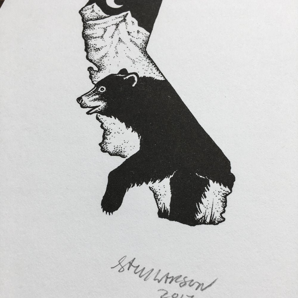 CA Black Bear - Signed Print #24