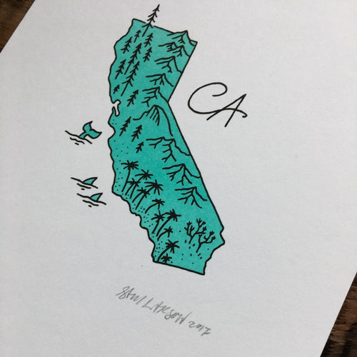 California - Signed Print #28