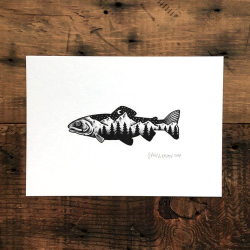 Trout - Signed Print #29