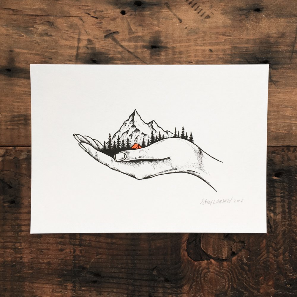 Hold On - Signed Print #34