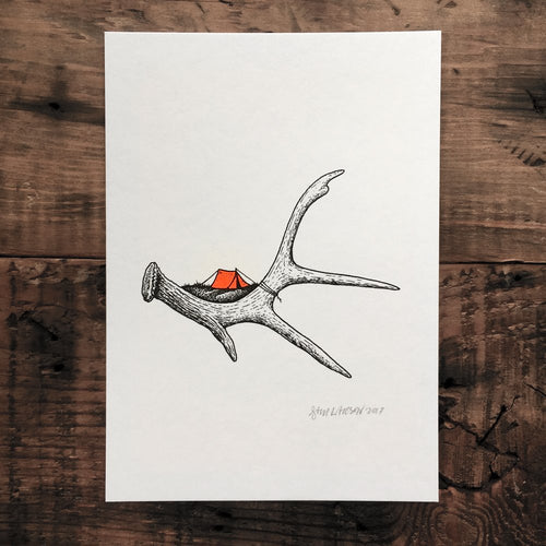 Little Antler Camp - Signed Print #36