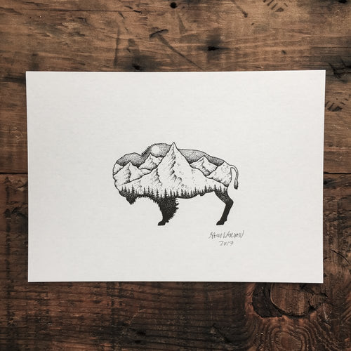 Bison Peak - Signed Print #8