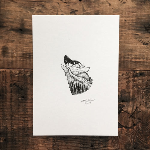 Wolf Stream - Signed Print #15