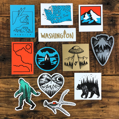 Washington Sticker Pack Set (All 3)